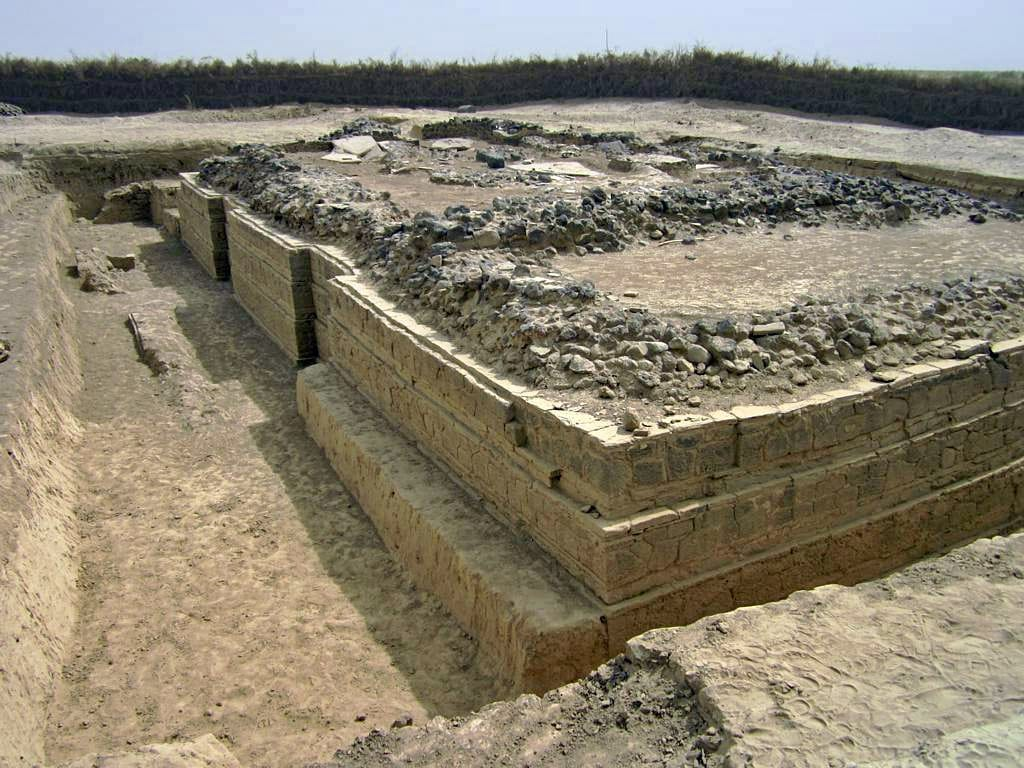 Foundations of the 5th century Byzantine church in Adulis
