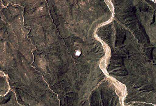 Amguid crater from the space, Algeria
