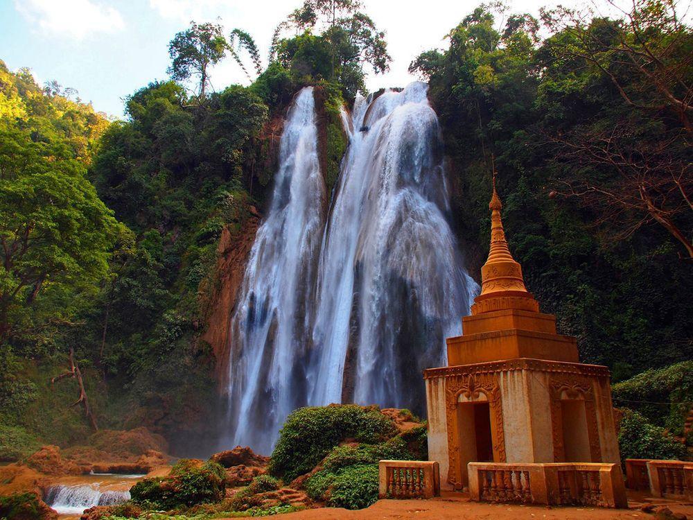 Cascade of Anisakan Falls, Burma