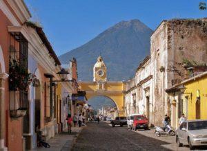 Antigua Guatemala and Agua volcano