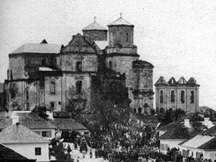 Cathedral in 1892, before the reconstruction, Ukraine