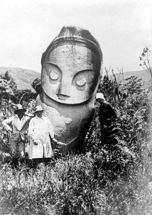 Megalithic statue in Bada Valley, Central Sulawesi
