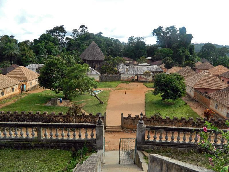 Buildings in Bafut Palace, Cameroon