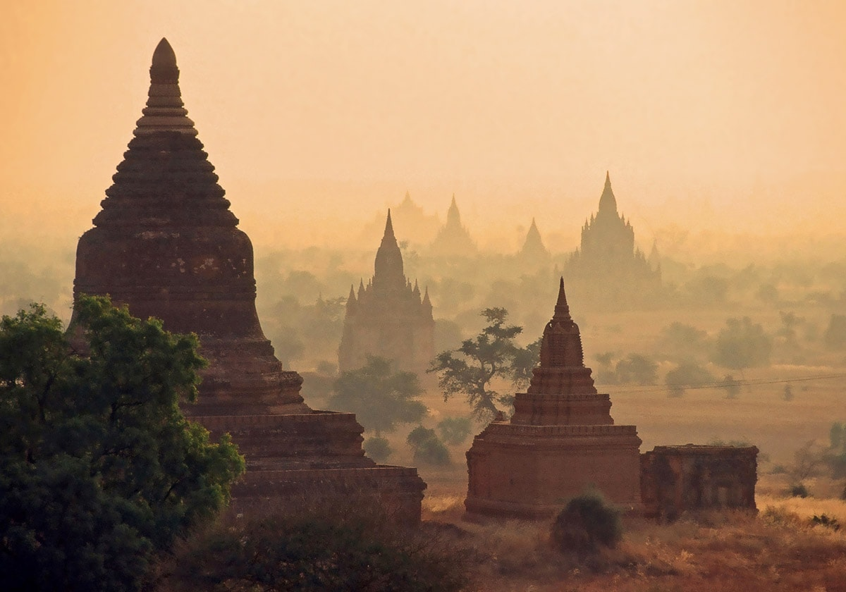 Bagan, Burma - one of most impressive landmarks of the world