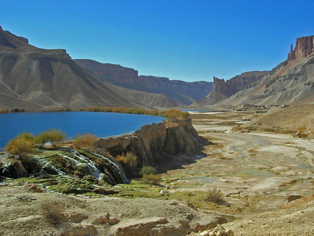 Travertine terraces in Band-e-Amir, Afghanistan