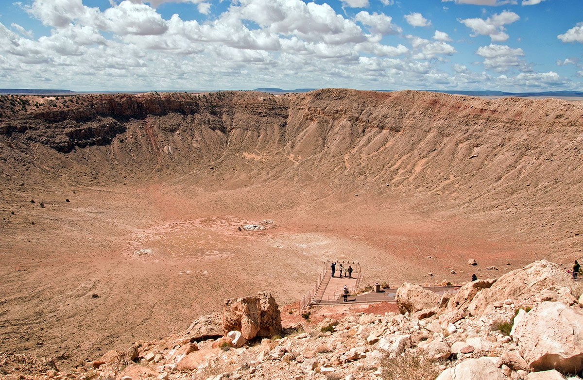 Meteor Crater from the rim