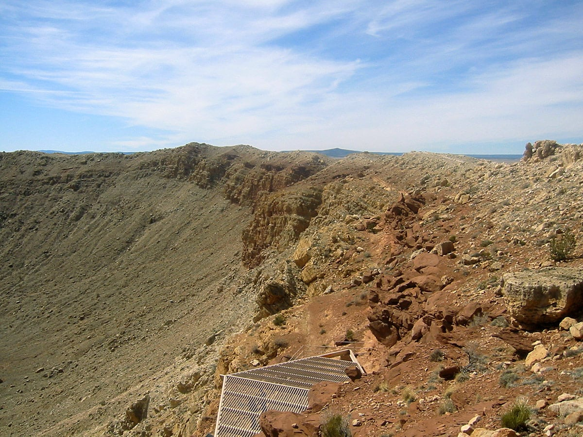 Northern rim of Meteor Crater