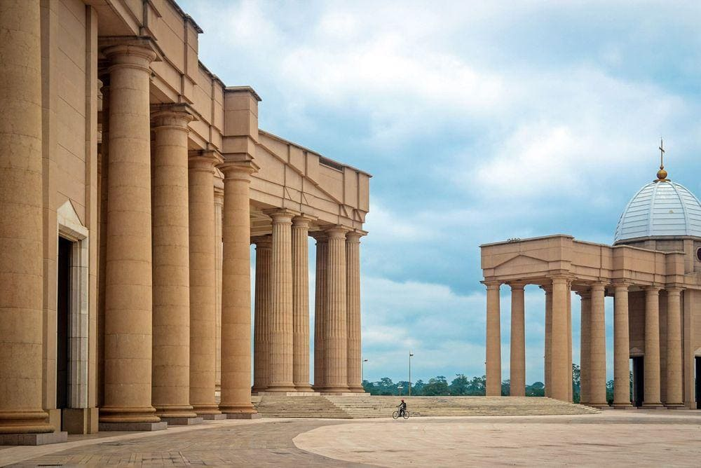 Doric columns of Yamoussoukro Basilica of Our Lady of Peace