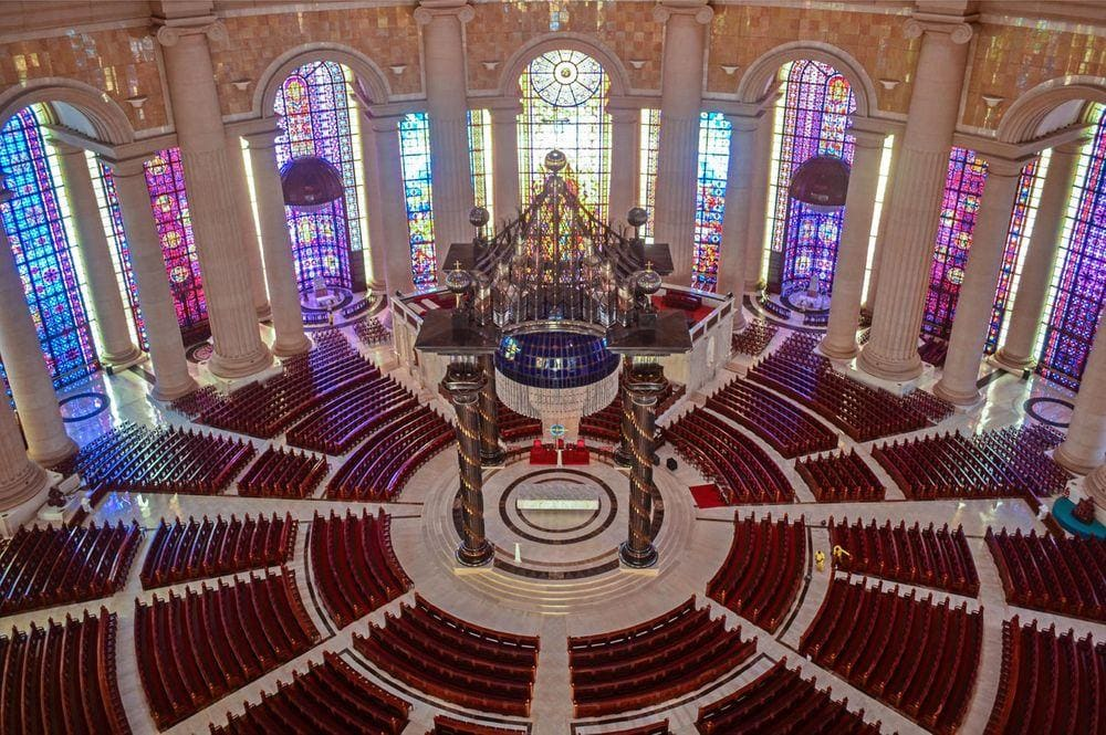 Interior of Basilica of Our Lady of Peace of Yamoussoukro