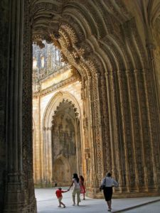 Impressive stone lattice in the Unfinished Chapels, Batalha Monastery