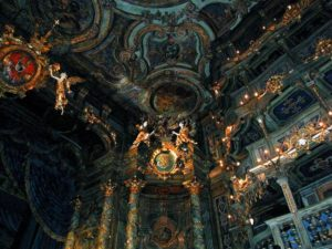 Inside the Bayreuth Margravial Opera House, Germany