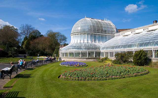 The Palm House of Belfast Botanic Gardens