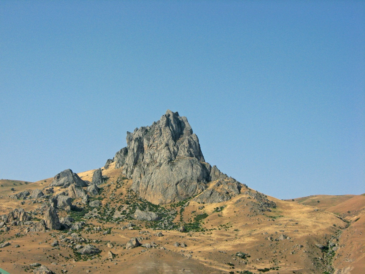 Besh Barmag Mountain, ancient sacred place in Azerbaijan