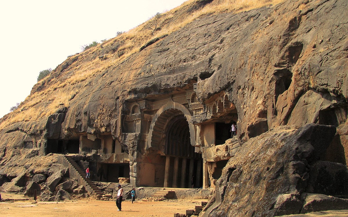 Entrance in chaityagriha, Bhaja Caves
