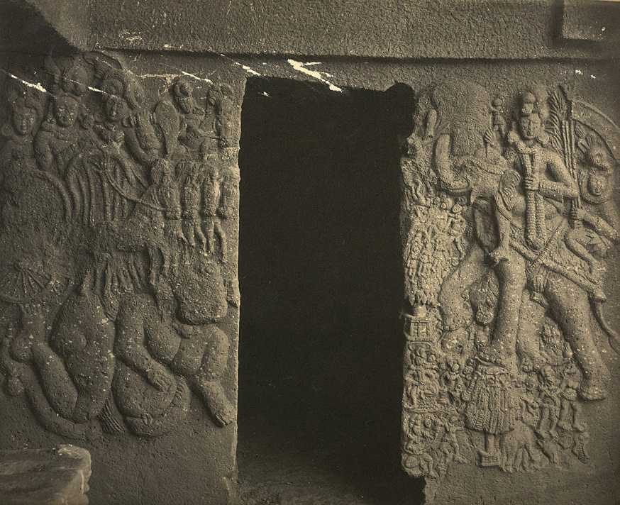 Relief at the entrance of cave No. 18, Bhaja Caves