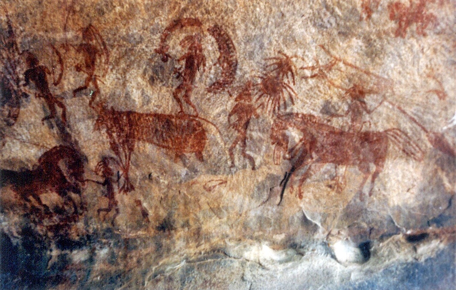 Paintings in Bhimbetka caves