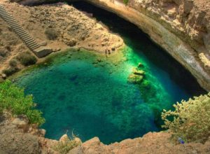 Lake in Bimmah sinkhole, Oman