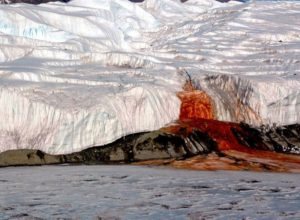 Blood Falls from above, Antarctica