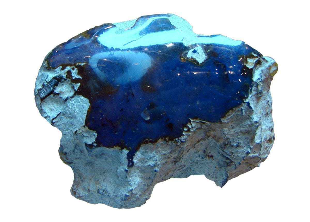The blue amber from the Dominican Republic