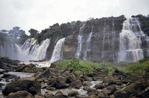 Boali Falls at low water, Central African Republic