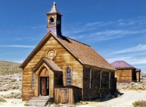 Church in Bodie ghost town