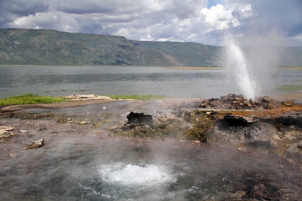 Geyser and boiling spring at Lake Bogoria, Kenya