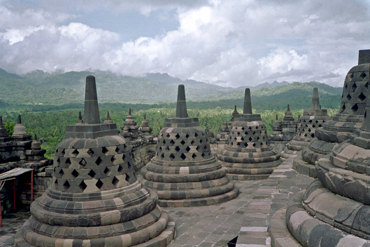 Stupas of Borobudur, Java