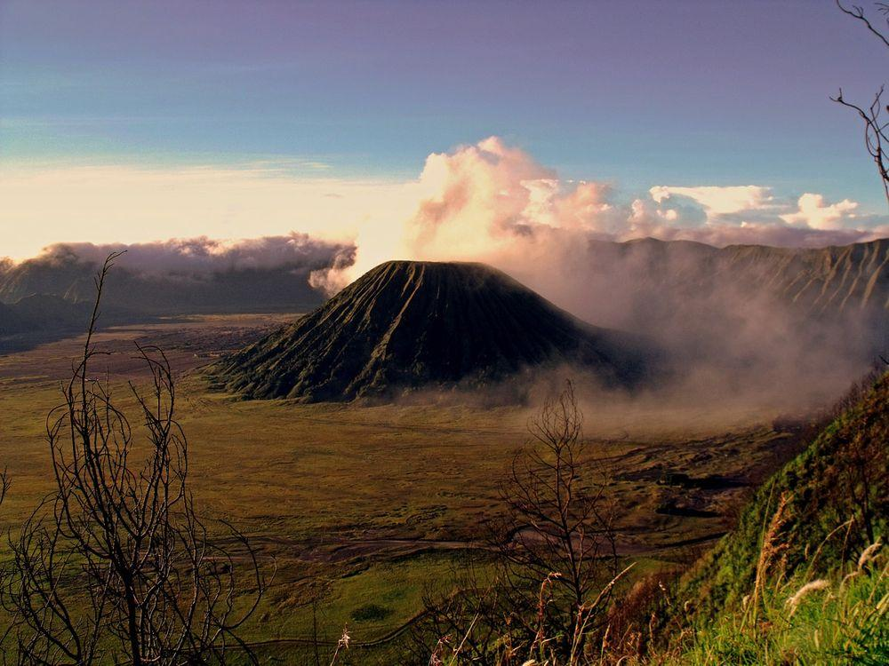Volcanic landscape around Mount Bromo, East Java