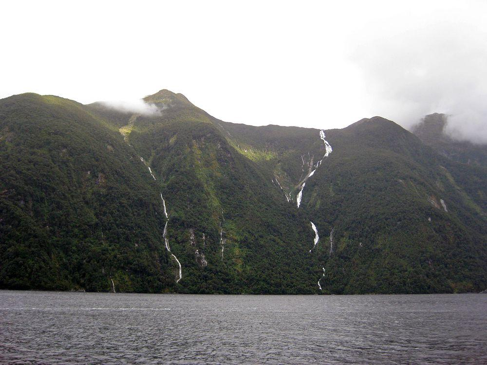 Browne Falls (to the right), New Zealand