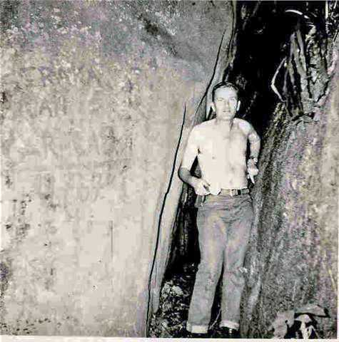 Caracas Cave and its discoverer Hellmuth Straka in 1967, Equatorial Guinea