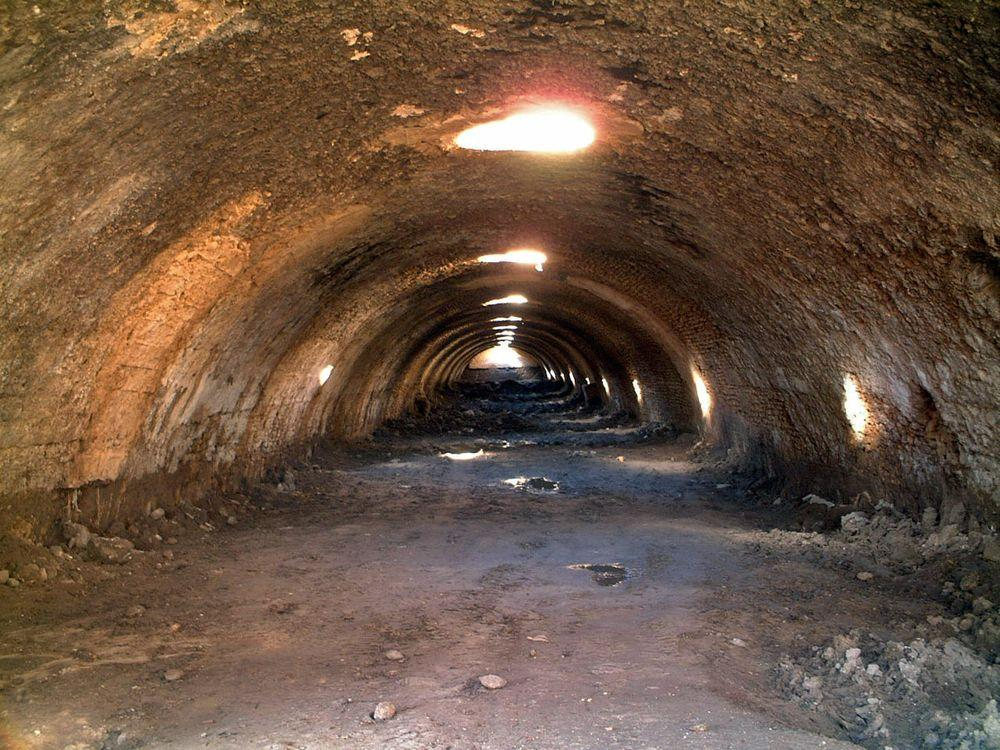 Inside one of Roman water cisterns in Carthage