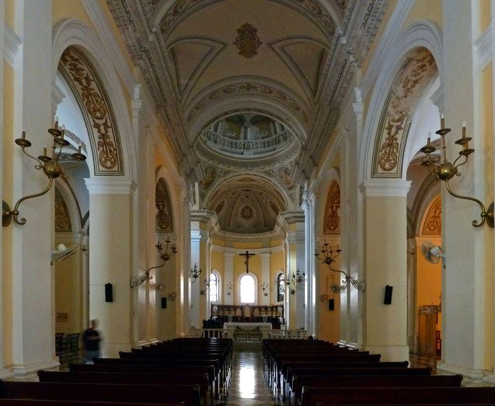 Interior of the Cathedral of San Juan Bautista, Puerto Rico