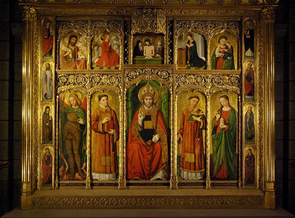 Retable paintings by Ludovico Brea, Monaco Cathedral