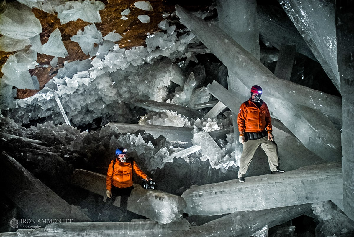 In the Cave of the Crystals, Mexico