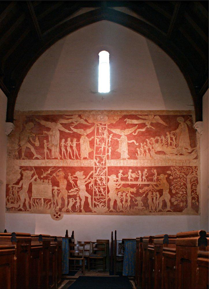 The oldest English wall painting in Chaldon Church