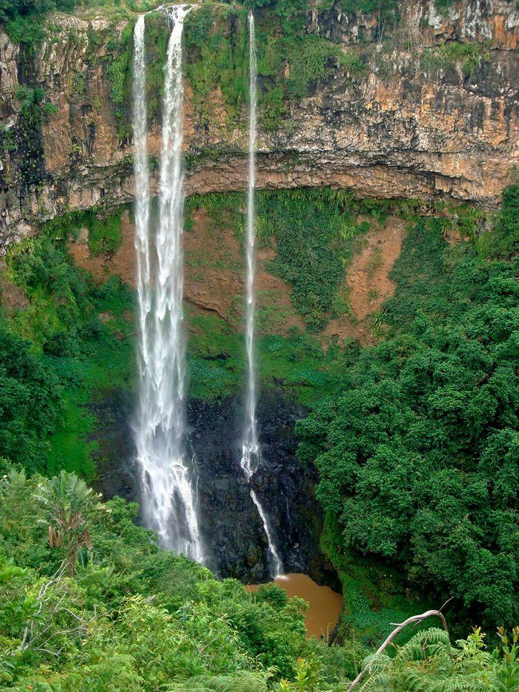Chamarel Falls, Mauritius, closer view