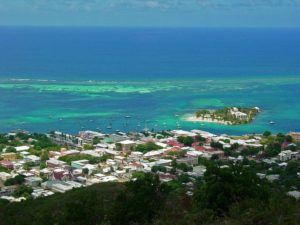 General view of Christiansted, US Virgin Islands