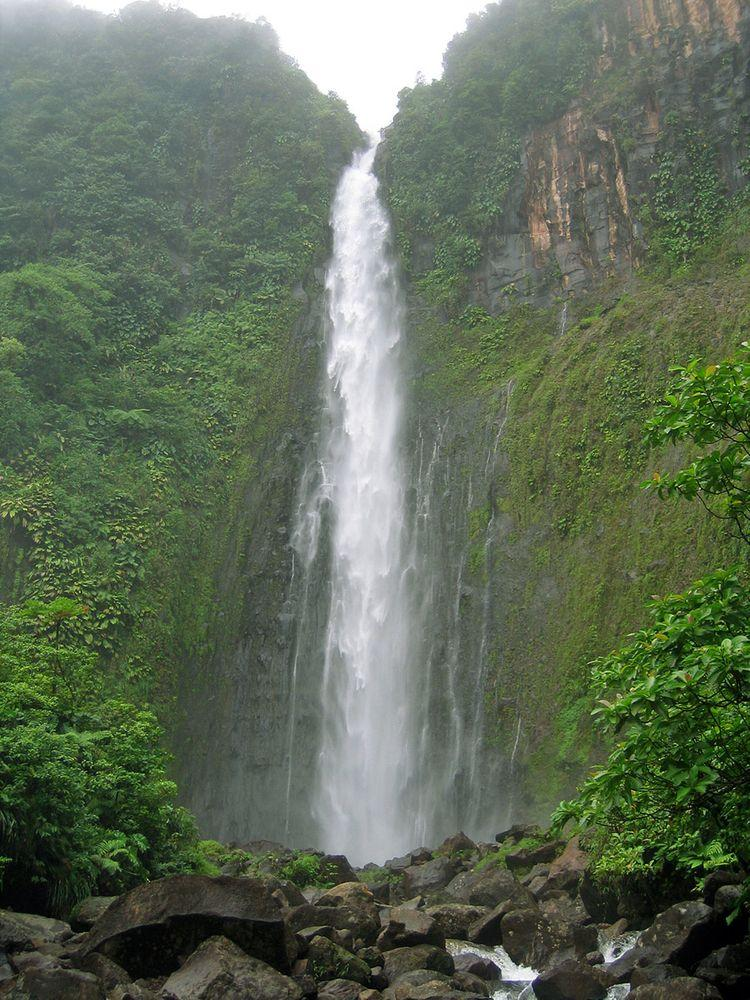 Second step of Carbet Falls, Guadeloupe