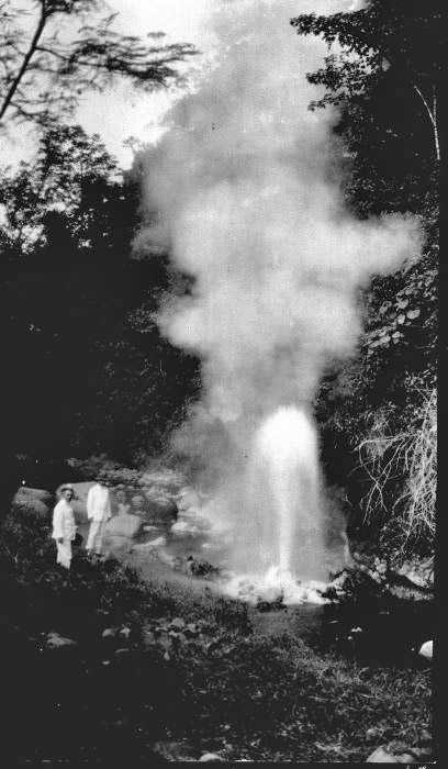 Possible image of Cisolok Geyser, Java