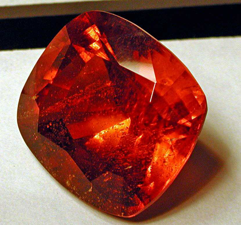 Faceted clinohumite, Tajikistan