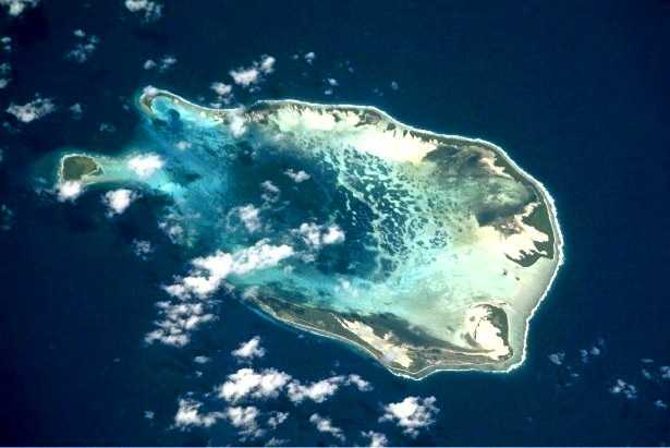 South Keeling Island from space