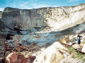 Crater of Curtis Island, May 1999, Kermadec Islands