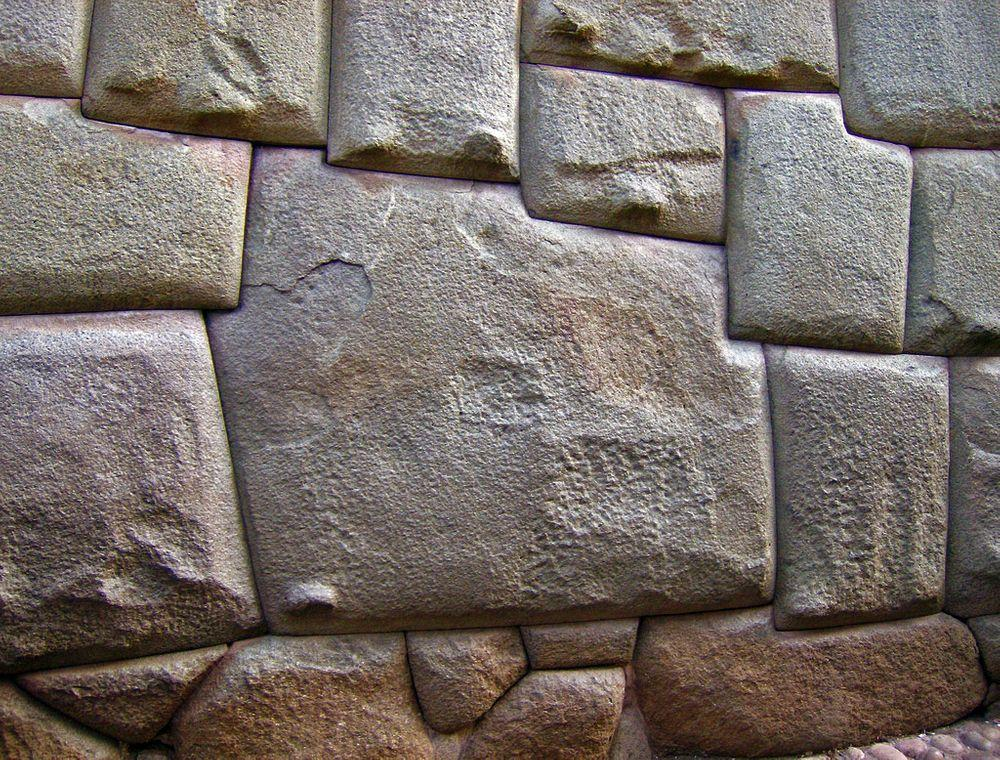 The stone of 12 angles in Hatun Rumiyoc Street, Cusco
