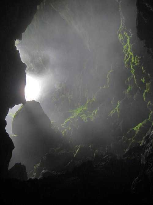 Daylight Hole - beginning of Puerto Princessa cave, Palawan