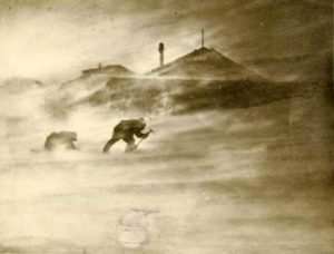 Storm at Mawson Hut, Antarctica