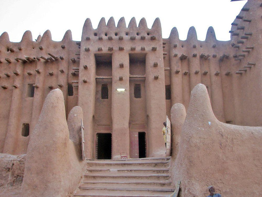Entrance in the Great Mosque of Djenné, Mali
