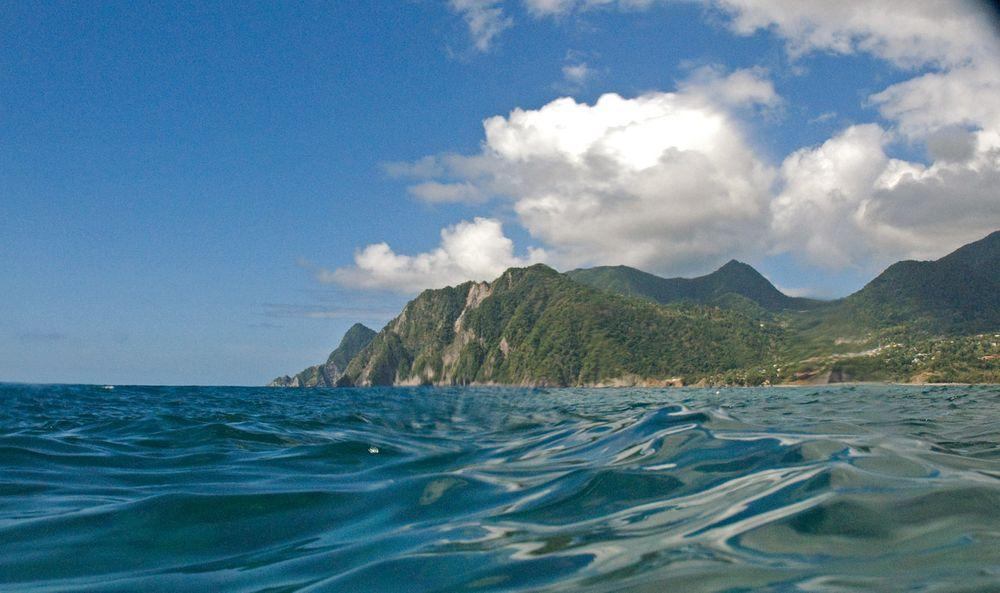 Dominica - mountainous island rising from the Caribbean