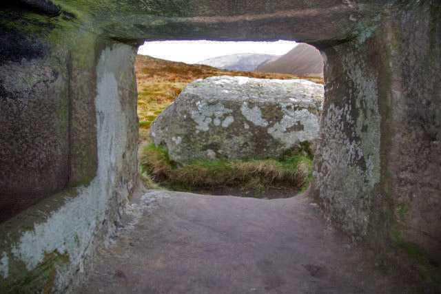 Dwarfie Stane, looking out from the passage