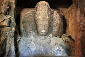 Trimurti in Elephanta Caves, India