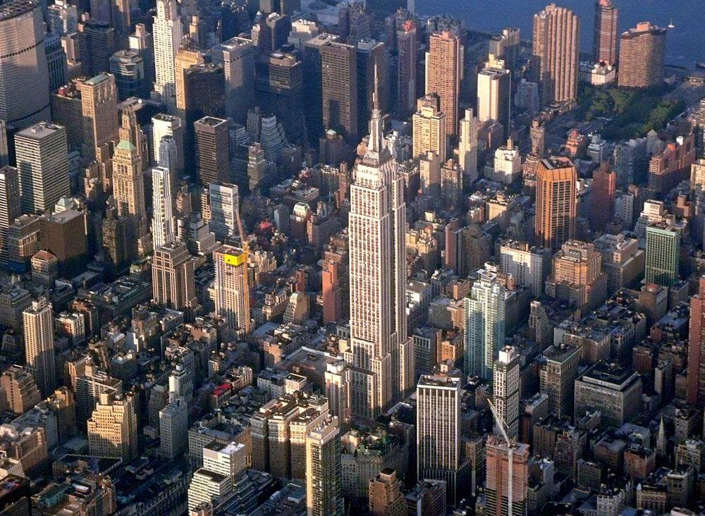 Empire State Building rising above Manhattan